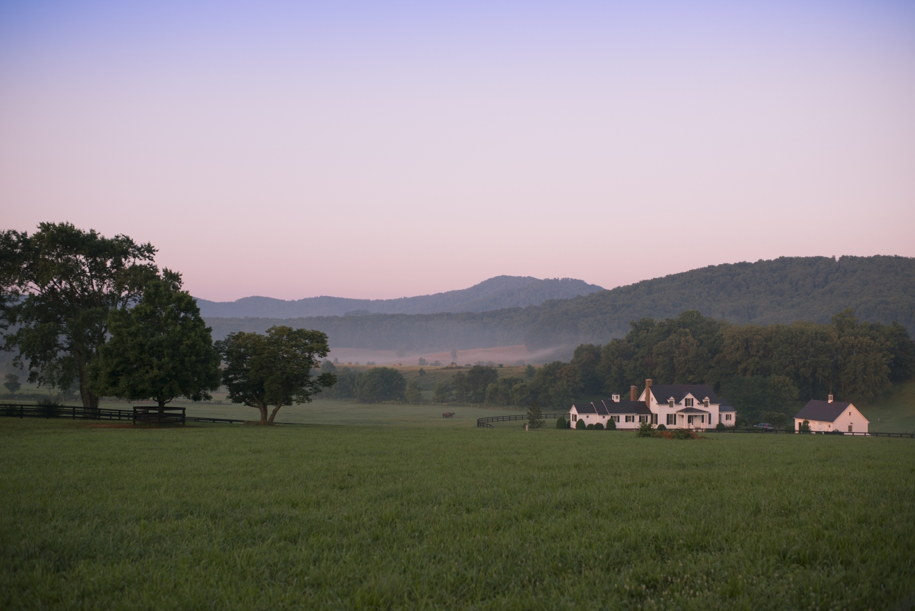 Take a trip down to Virginia's wine country and enjoy a unique culinary experience at Pippin Hill Winery. Located next to historic Bundoran Farm, Pippin Hill is set in the foothills of the Blue Ridge Mountains, and you'll experience everything from fine dining to views that will remind you why our founding fathers knew they weren't leaving anytime soon. (Image: Courtesy Bundoran Farm)