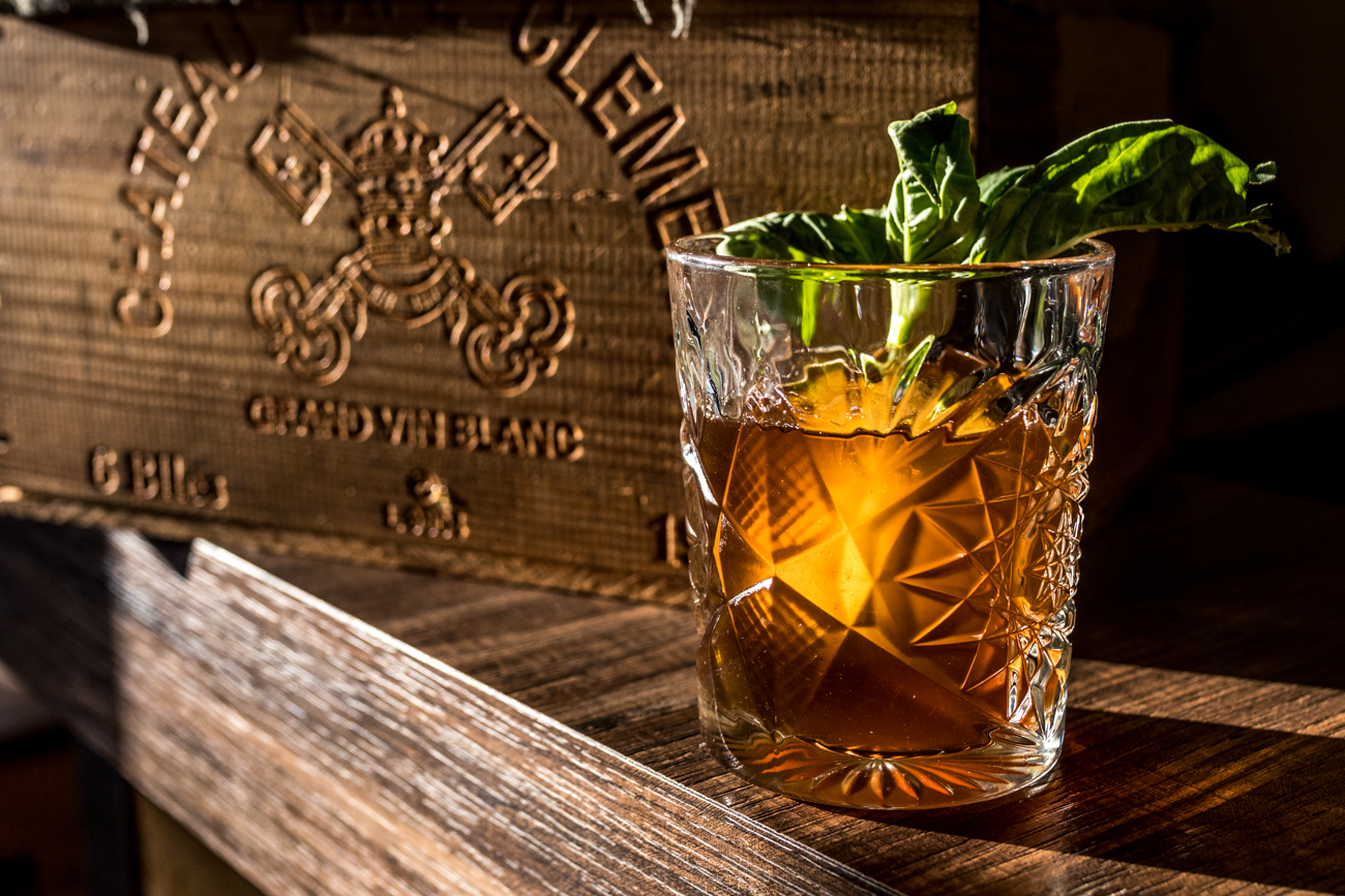 The Roebling: bourbon, coffee syrup, and basil / Image: Catherine Viox // Published: 1.23.20