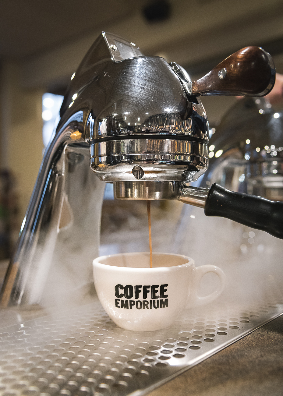 "Coffee Emporium in Over-the-Rhine got a fresh new look inside, so we checked it out for ourselves. First published on July 21 in ""The New Look Of Coffee Emporium's OTR Location Is As Hot As Its Coffee"" / Image: Phil Armstrong"