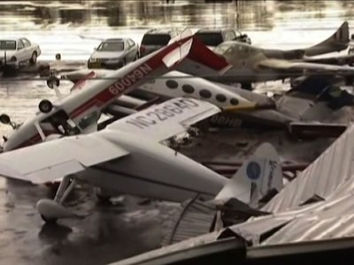 <p>The National Weather Service reports damage after severe storms hit western North Carolina on Monday. At least 98,000 homes and businesses lost power. Numerous trees are down. Fierce winds flipped planes at Hickory Regional Airport. (Oct. 24)</p>