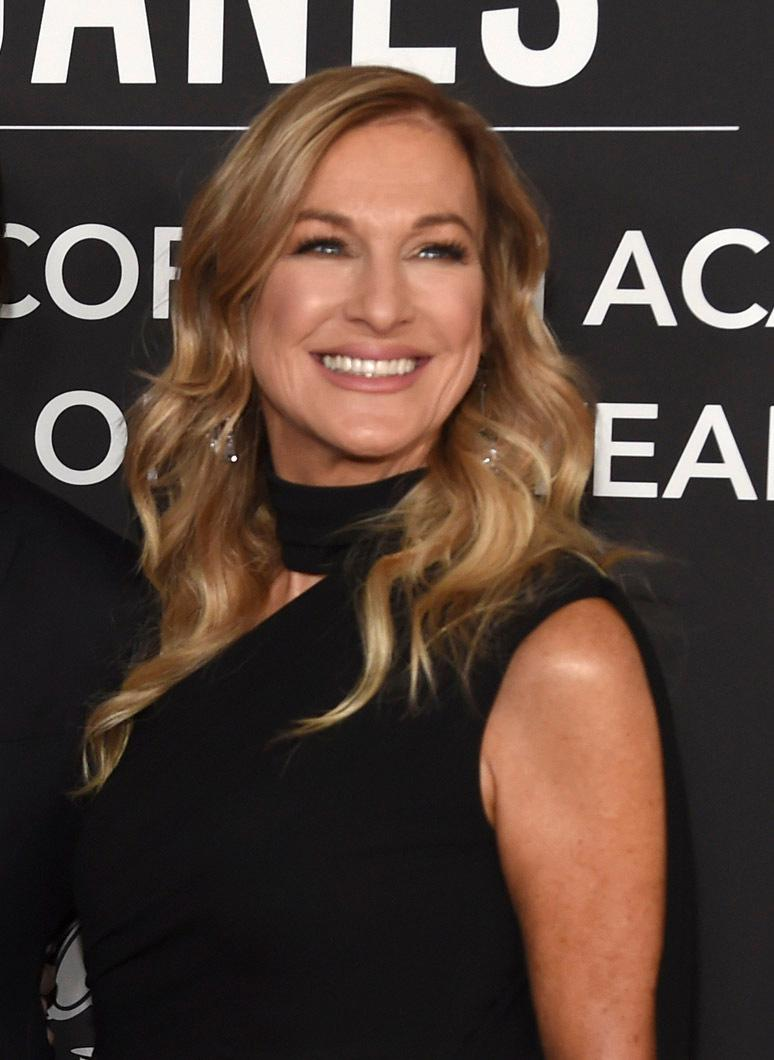 FILE - This Nov. 13, 2019 file photo shows Recording Academy President Deborah Dugan at the Latin Recording Academy Person of the Year gala honoring Juanes in Las Vegas.{ } (Photo by Chris Pizzello/Invision/AP, File)