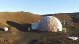 Space psychology subjects ending 8 months of isolation from Mars-like Hawaiian landscape