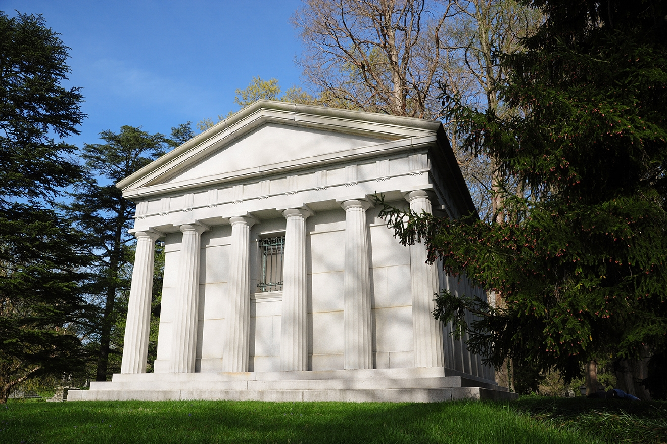 The Fleischmann Temple was modeled after the Parthenon in Greece. / Image: Melissa Doss Sliney