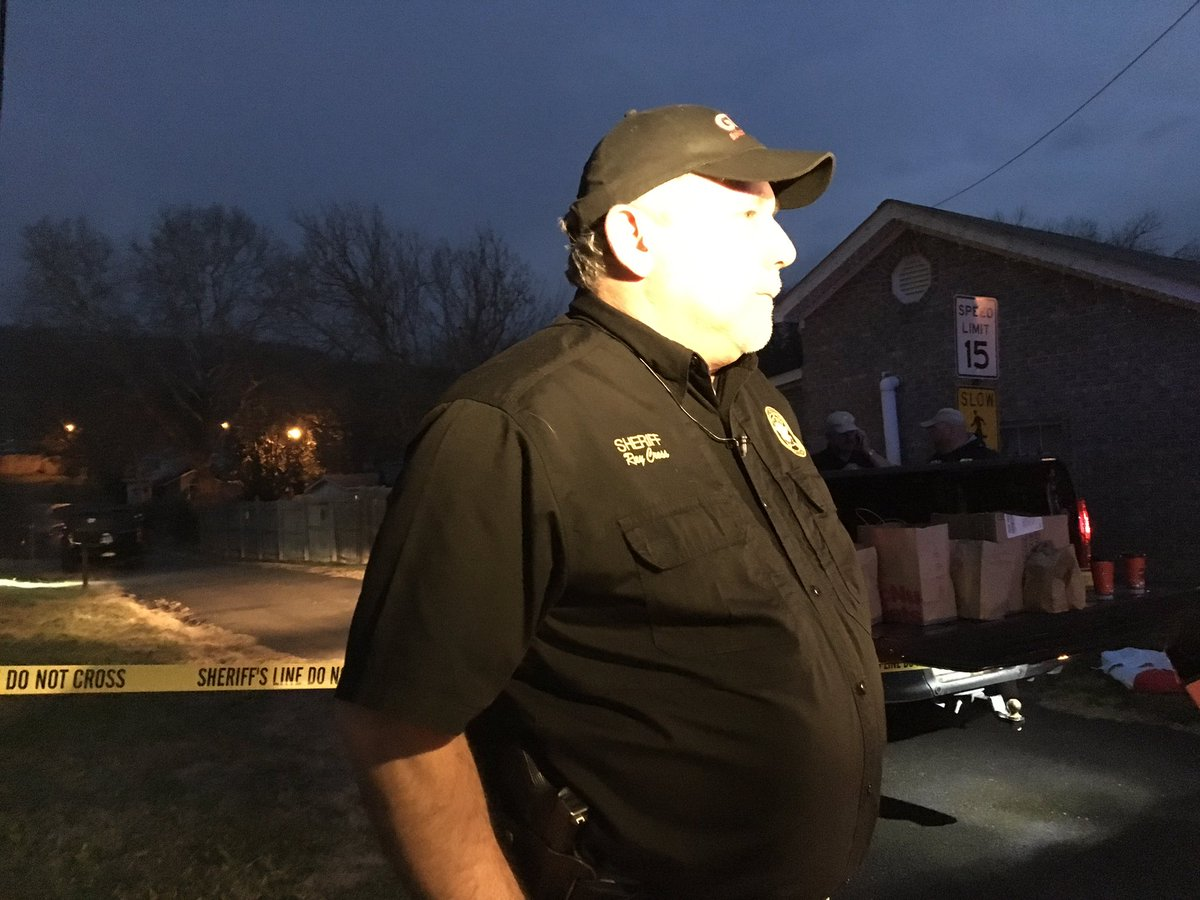 Dade Co. Sheriff Ray Cross updates our crew on the scene. (Image: WTVC)<p></p>