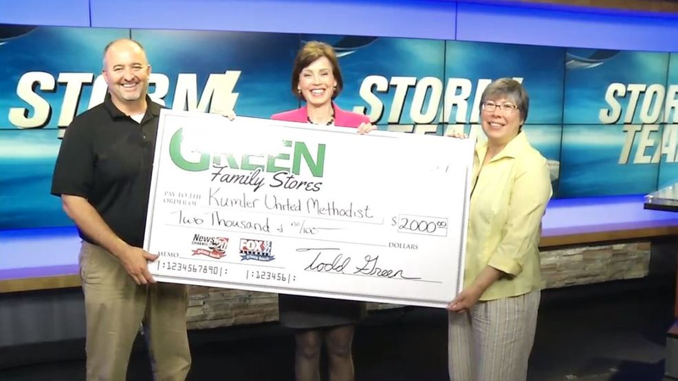 Green Family Stores >> Kumler Outreach Ministries Receives 2 000 From Weather