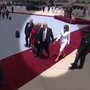 Video appears to show First Lady Melania Trump refuse to hold president's hand