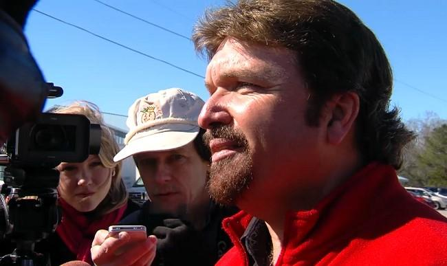 Local Dale County pastor Michael Seen spoke to the media on Friday, February 1, 2013, and reported that the family of the hostage is staying strong during the crisis.