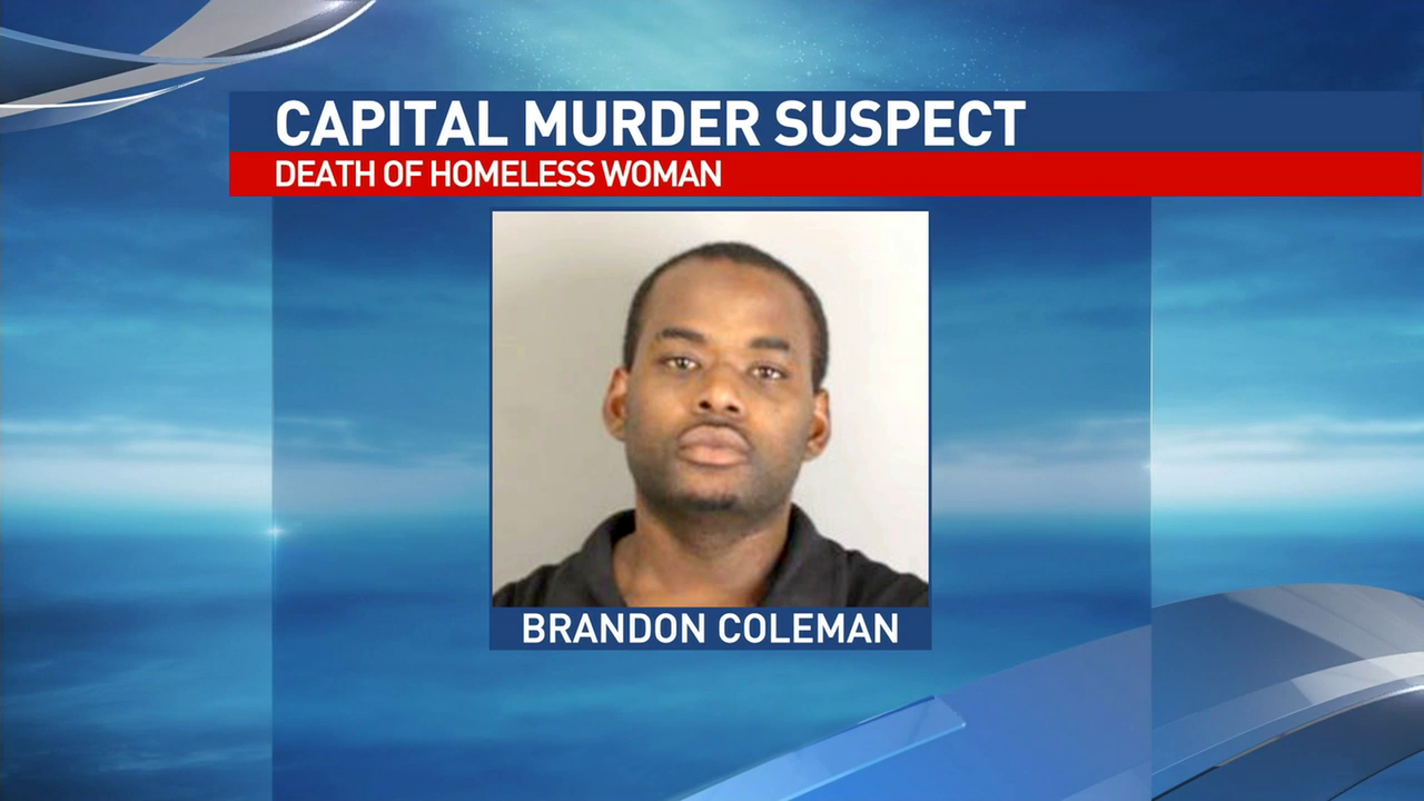 New details released in death of Beaumont homeless woman found at Collier's Ferry Park in Beaumont.  Brandon Coleman, 26, has been charged with murder,