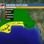 Several rounds of severe weather threaten NWFL