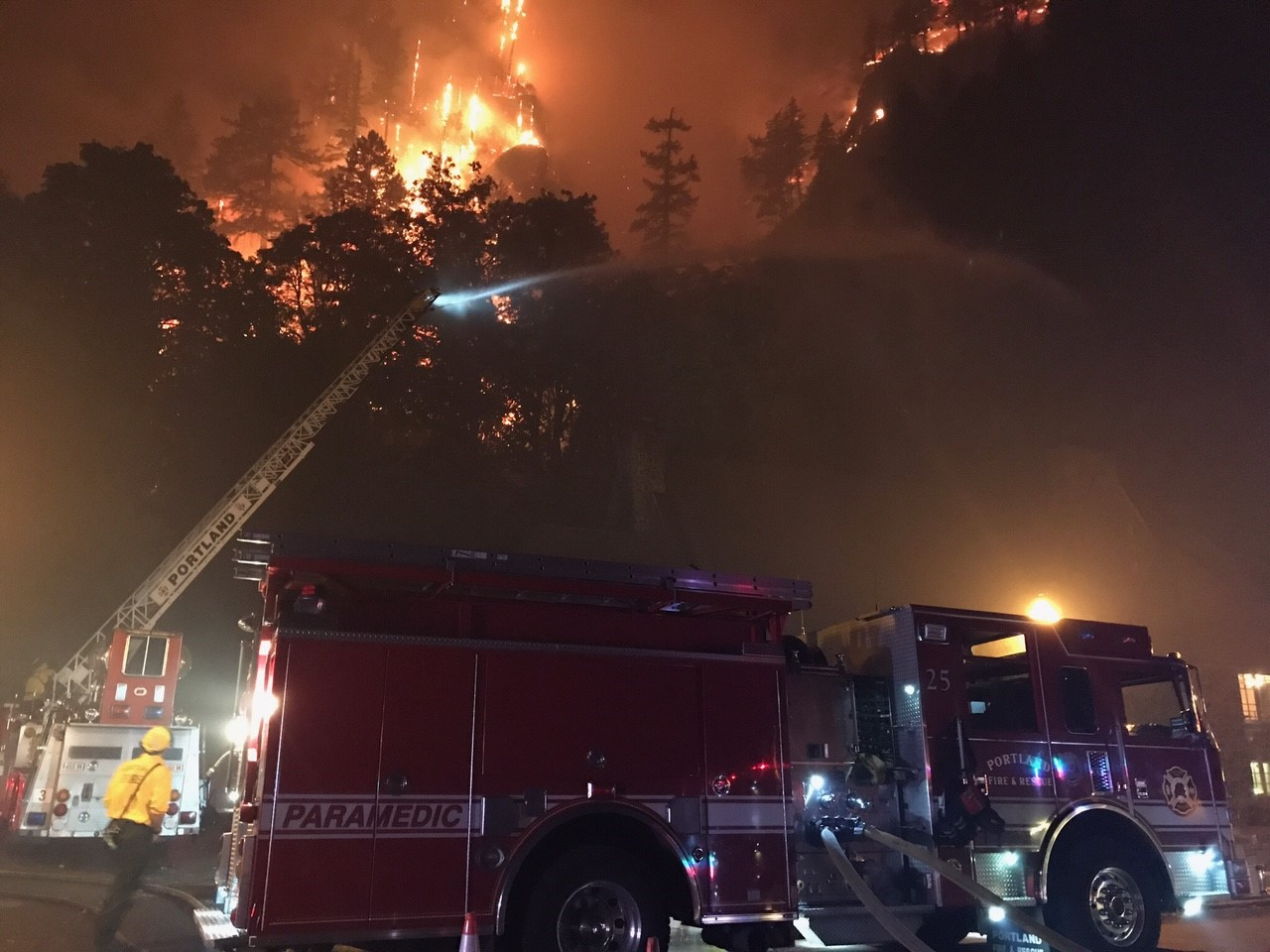 Eagle Creek Fire (Photo: Portland Fire & Rescue)