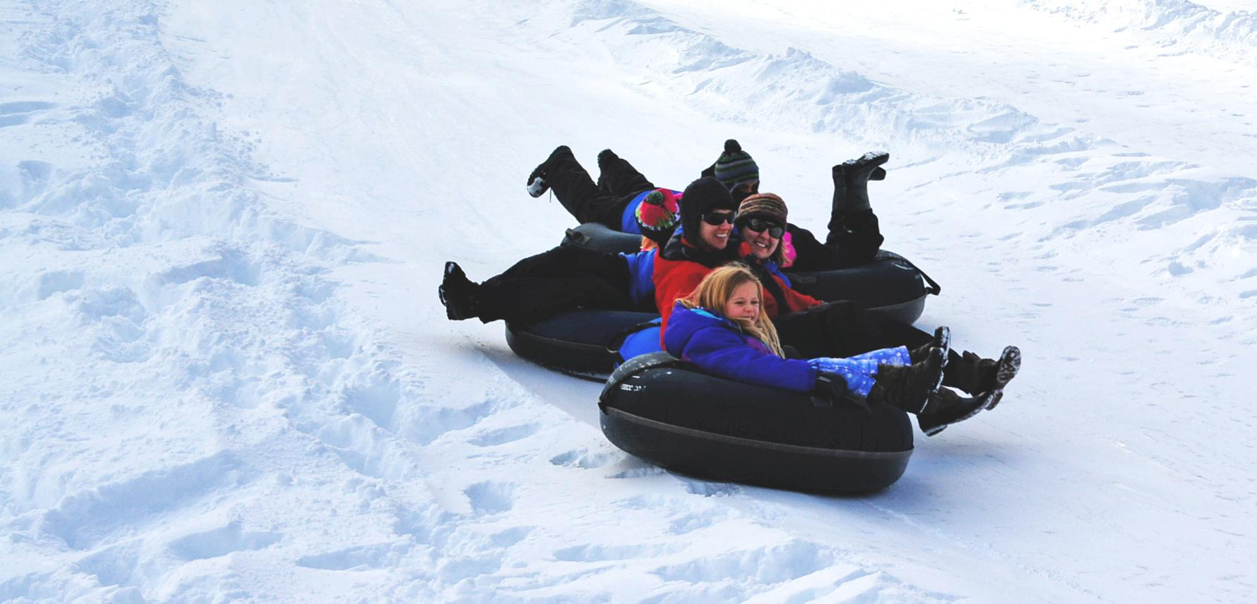 Downhill inner tubing at Suncadia Resort is fun for all ages.{&amp;nbsp;}<p></p>
