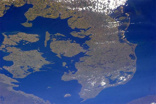 This was my first time to see Denmark so clearly.  This picture looks like a map!  (Photo & Caption courtesy Rick Mastracchio (@AstroRM) and NASA)