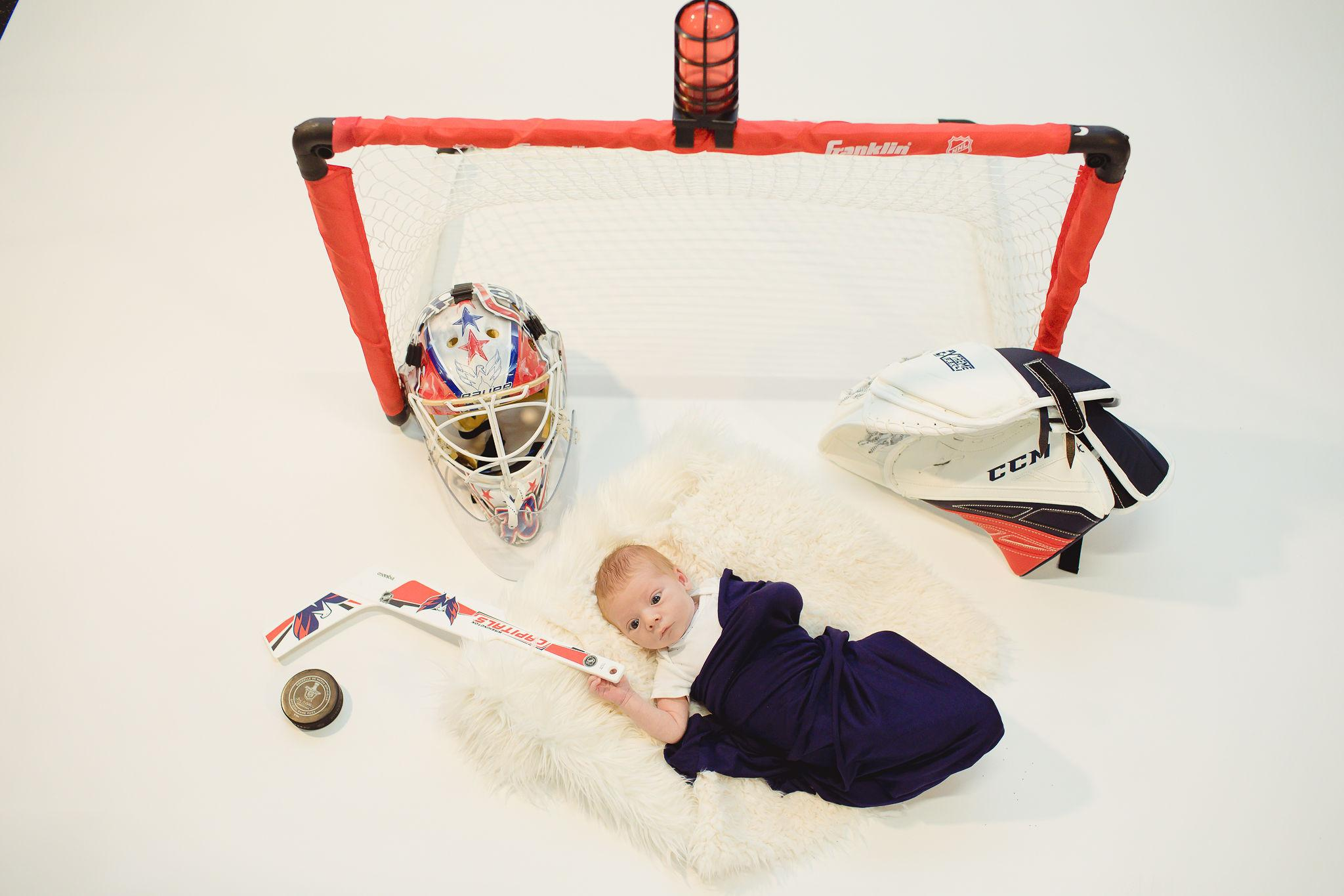 Baby Braden making The Save (Courtesy of Capitals)