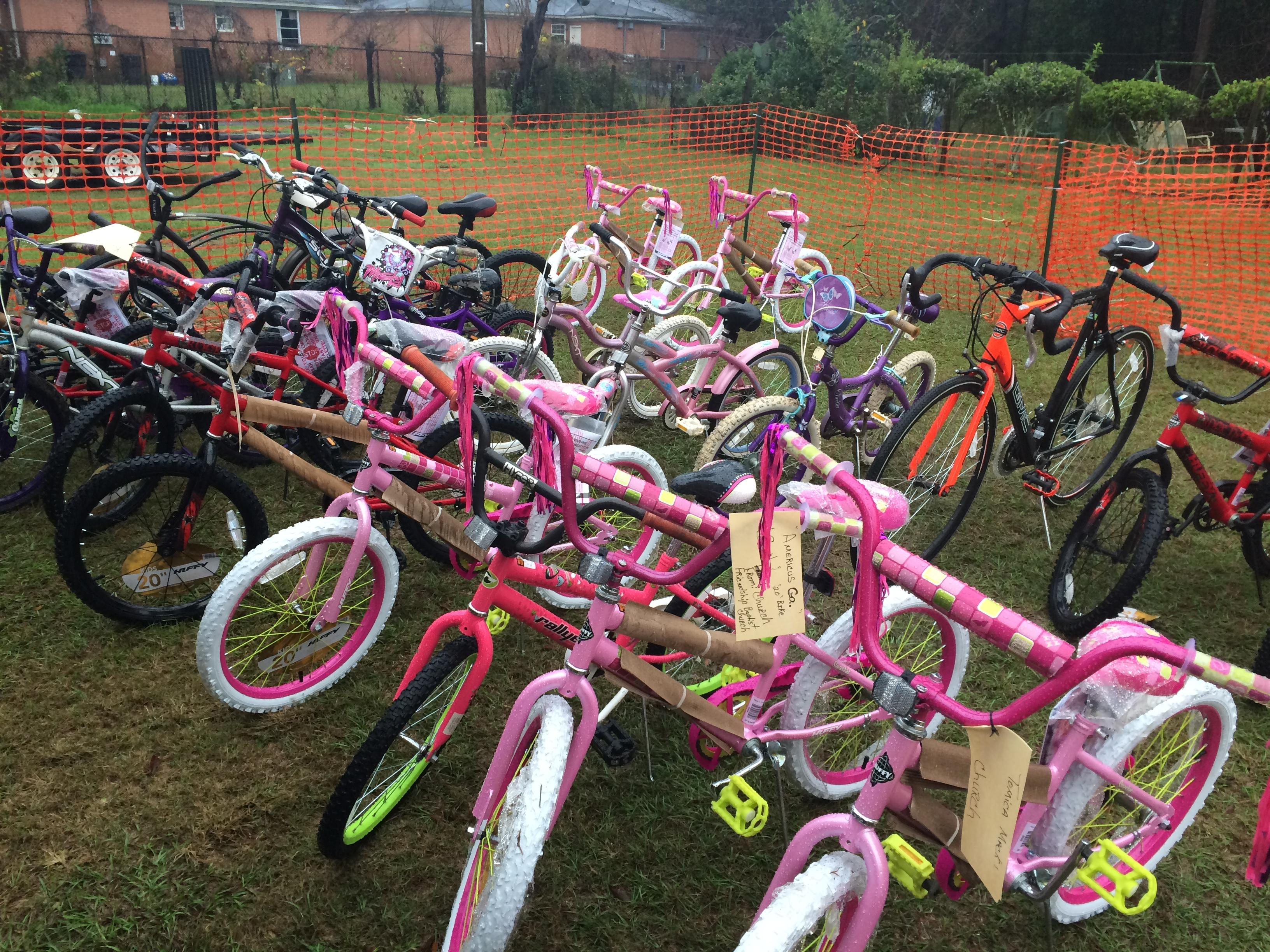 The temple gave away 25 bikes on Wednesday to children who were nominated by various schools and churches in the area.  /Tosin Fakile