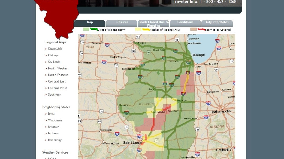road conditions around central illinois wrsp