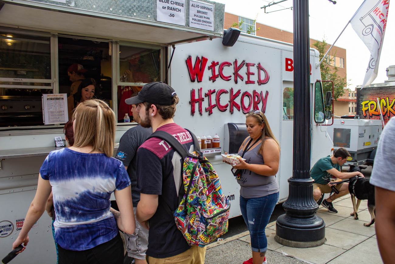 Food trucks also posted up for the event. Wicked Hickory ended up winning the prizes for Best Dry Rub and Best Presentation.{&nbsp;}/ Image: Katie Robinson, Cincinnati Refined // Published: 9.29.19<p></p>