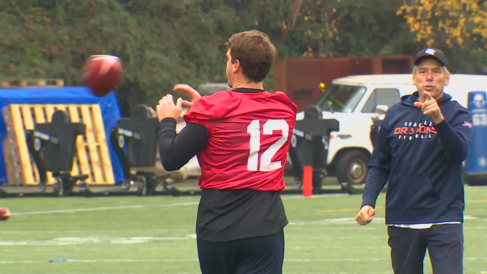 Seattle Dragons XFL team hold first practice with familiar faces