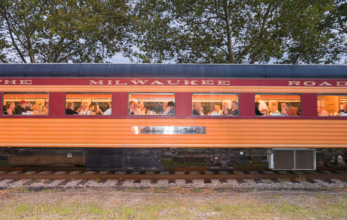 Step back into the 1940s with the Cincinnati Dinner Train. Three vintage dining cars manned by period-themed staff transport diners to and from Roselawn (by way of Downtown) during a relaxing, three-hour trip. / Station address: 2172 Seymour Avenue, Cincinnati, OH 45237 // Image: Sherry Lachelle Photography