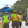 Driver airlifted in Highway 29 crash that killed highway worker