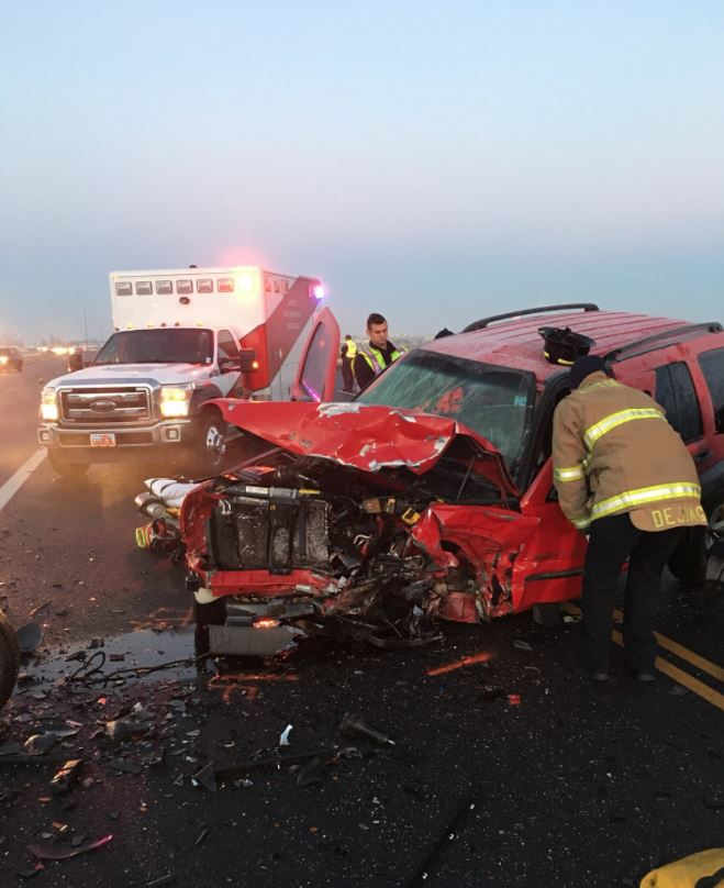 Layton crash leaves 3 adults in serious condition. (Photo: Layton City)