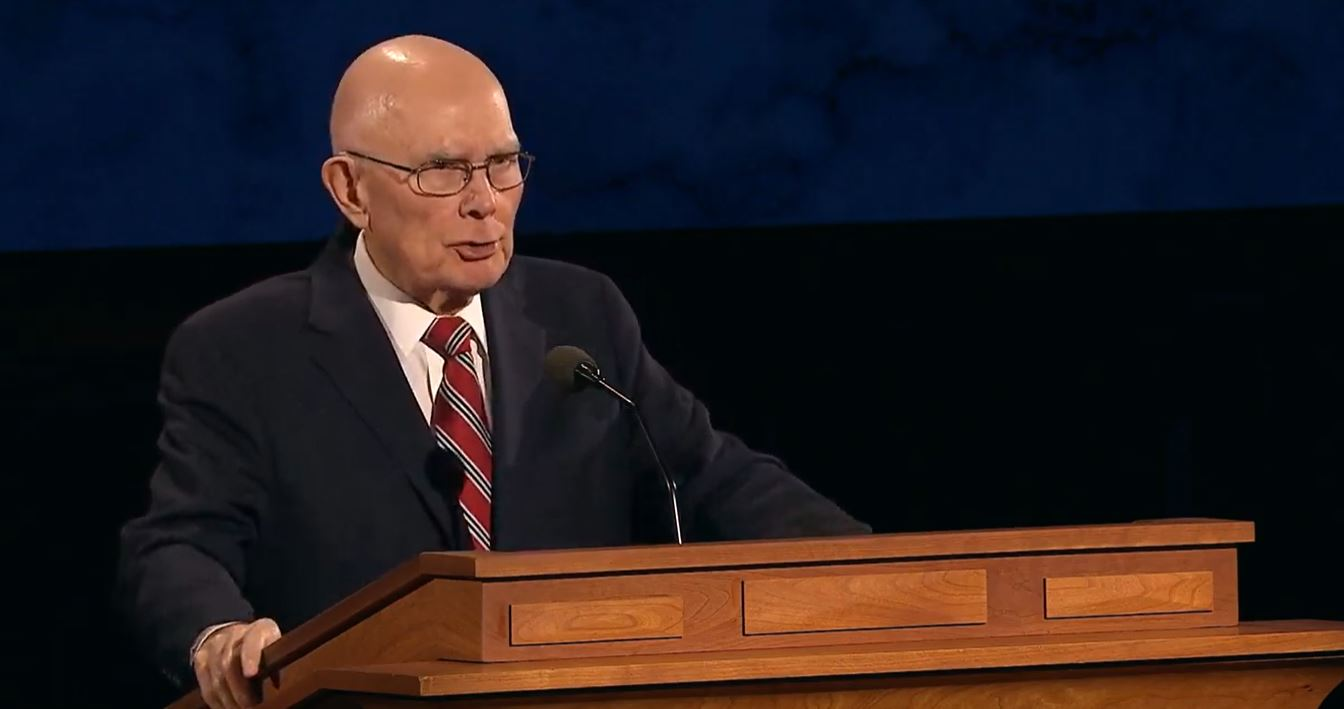 <p>President Dallin H. Oaks, First Counselor of the First Presidency (Photo: YouTube / screengrab)</p><p></p>