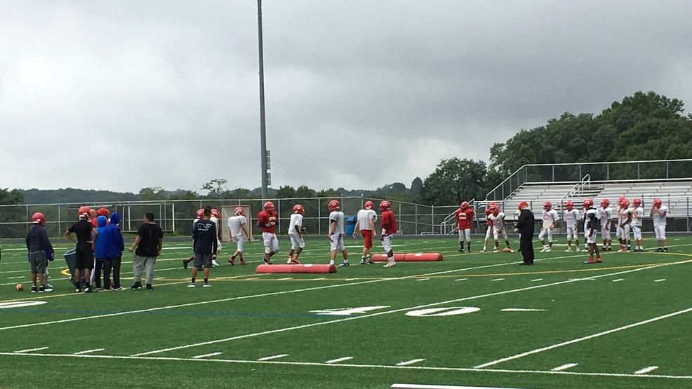 Members of the Centennial High School junior varsity football team practice at the school's varsity stadium in Ellicott City, Md., Wednesday, Sept. 6, 2017. Centennial decided not to field a varsity team this year because not enough boys wanted to play.