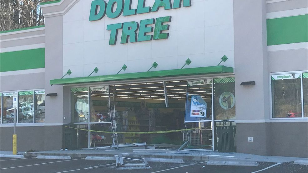 No injuries, structural damage reported after vehicle crashes into Asheville Dollar Tree