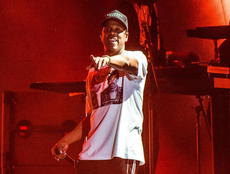 FILE - In this Oct. 13, 2017, file photo, Jay-Z performs at the Austin City Limits Music Festival in Austin, Texas. The rapper was nominated for eight Grammy nominations on Tuesday, Nov. 28. The 60th Annual Grammy Awards will air on CBS,  Sunday, Jan. 28, 2018 in New York. (Photo by Amy Harris/Invision/AP, File)