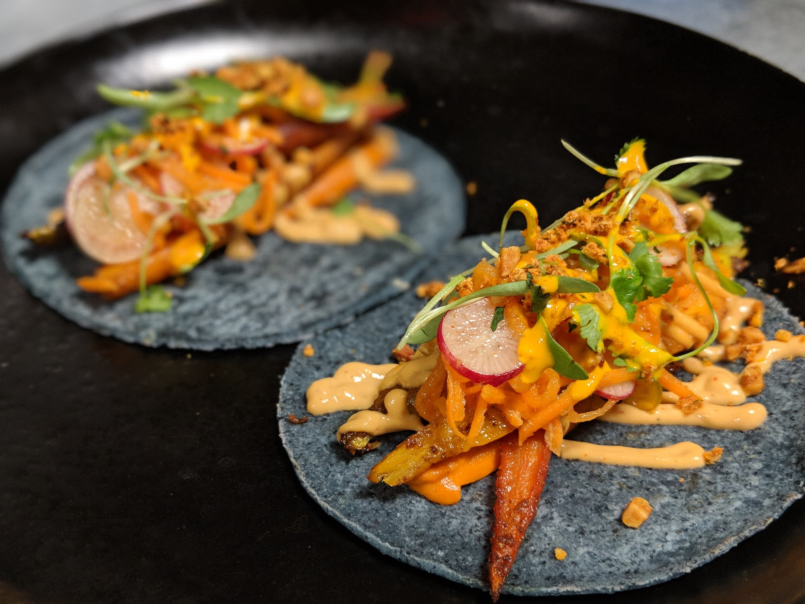 Tacos de Zanahoria at Espita Mezcaleria (Photo credit: Espita)<p></p>